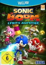 Sonic Boom: Lyrics Ascension Wii U (Nintendo Wii U) article neuf scellé