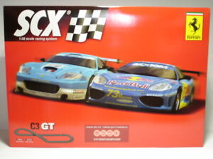 SCX C3 GT Analogue Track set with 2 slot cars 1/32 scale new