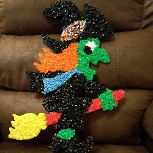 Vintage Melted Plastic Popcorn Halloween WITCH