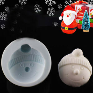 Silicone Snowman Head Cake Chocolate Baking Mould Fondant Decorating Icing Mold