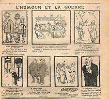 Humour Guerre Serin Restaurant Pain Policier Feldgrauen Salandra   WWI 1915