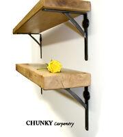 Rustic Wood Medium Thickness Shelf Shelves Industrial Metal Iron Brackets