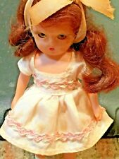 """4.5"""" Storybook doll from 1950's;Faded blue #50 """"Little Sister Goes to School"""""""