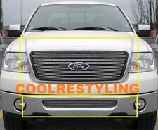FOR 06 07 08 Ford F150 F-150 Billet Grille Combo 1pc upper +1pc bumper inserts
