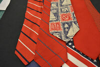 Lot of 7 TOMMY HILFIGER Ties / Neckties - incredibly cheap price ! Grab it ! D5