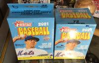 Lot (3) 2021 Topps Heritage Baseball MLB Blaster Box + 1 Hanger FACTORY SEALED