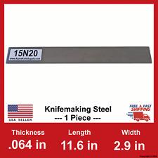 15N20 Carbon Steel Bar Billet - 1/16 in x 11.6