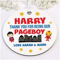 PERSONALISED Page Boy Ring Bearer Boys Superhero Gifts - Wedding Super Hero Gift