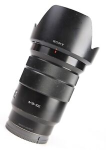 Sony  PZ 18-105mm G OSS F4 Zoom Lens - Fits Sony E Mount + Rear Lens Cap + Hood