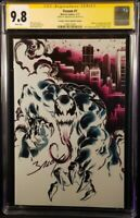 VENOM #1 CGC SS 9.8 MARK BAGLEY NEGATIVE VARIANT SPIDER-MAN CARNAGE BLACK CAT MJ