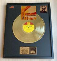Stevie Wonder Innervisions 1973 Custom 24k Gold Vinyl Record in Wall Frame