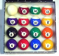 "SPOTS AND STRIPES 2"" (50.8mm) POOL BALLS (STANDARD SIZE)"