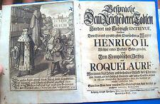 1732 DIALOGO IMMAGINARIO TRA ENRICO II E IL DUCA DI ROQUELAURE. ILLUSTRATO