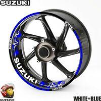 """Suzuki GSXR Decals 600 750 1000 8/"""" Pair Full Color Die Cut Stickers Motorcycle"""