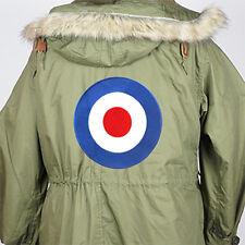 PREMIUM EXTRA LARGE RETRO MOD TARGET RAF ROUNDEL SEW ON PARKA PATCH