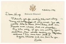 Ronald Reagan - Autograph Letter Signed 04/02/1991
