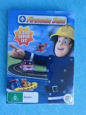 FIREMAN SAM 5 DVD SUPER SET NEW SEALED MOUNTAIN RESCUE CHOPPY WATERS HERO SEA AB
