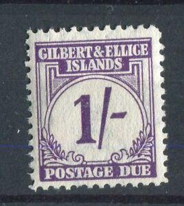 Gilbert & Ellice Islands KGVI 1940 Postage Due 1s violet SG.D7 MLH