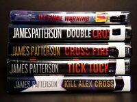 JAMES PATTERSON Lot of 5 Ex-Library Double Cross Fire Tick Tock Final Warning