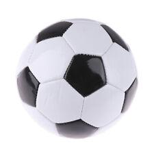 Ballon d'entraînement noir et blanc de football pour enfants, PVC`u