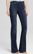 NWT PAIGE Sz 25 HIGH RISE BELL CANYON  HIGH WAIST FLARE JEANS BLUE NOTTINGHAM