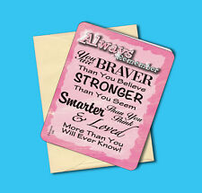 """Always Remember You"" Inspirational Greeting/Note Card - Blank Inside - sku# 630"