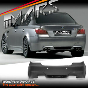 M5 style Twin exhaust outlet Rear bumper bar for BMW 5-Series E60 sedan 03-07