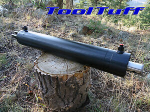 "22 25 Ton OEM Hydraulic Log Splitter Cylinder Double Acting  4 Bore x 24"" Stroke"