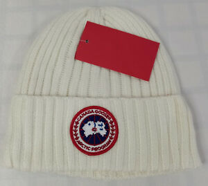 Canada Goose Beanie Ski Hat White