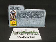 G.I. Joe ARAH 1990 Laser-Viper File Card