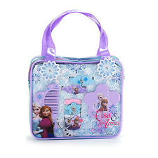 Frozen Anna Elsa Hair Ties Accessories Kit Bag Carry Case Kids Gift Bobbles Comb