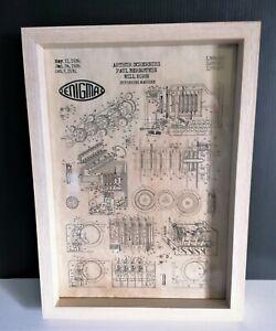 Cadre décoration vintage dépôt de brevet invention machine a crypter ENIGMA