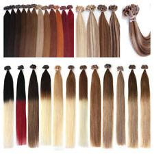 Real Human Hair Extensions Pre Bonded Keratin Glue U Nail Tip Remy Hair 50S 1g/s