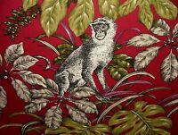 Monkeying Around Curtain Upholstery Blind Cushion Craft Quilting Cotton Fabric