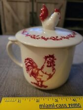 Andrea By Sadek Trostil Red Rooster Barnyard Toile Cup with Lid