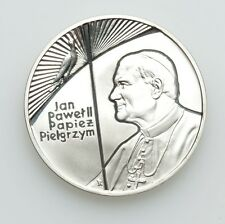 """POLAND  1999  10 ZLOTYCH  """"POPE JOHN PAUL II """"  GEM CAMEO PROOF SILVER COIN"""