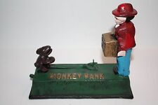 Vintage Cast Iron Mechanical Monkey Bank (reproduction)