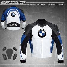 Men BMW Motorcycle motorbike rider racing leather jacket LLJ-176(USA 42- 48)
