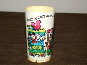 "VINTAGE 4"" HIGH WALT DISNEY WORLD MINNIE MICKEY MOUSE DONALD DUCK  PLASTIC CUP"