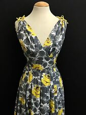 VINTAGE 1950'S CAROL CRAIG YELLOW ROSE COTTON PIN UP ROCKABILLY SUN DRESS