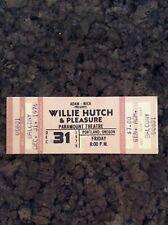 Willie Hutch & Pleasure 1976 Unused Concert Ticket Portland Oregon Paramount