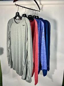 Bundle Lot of 5 Long Sleeved Mens XL Athletic Shirts
