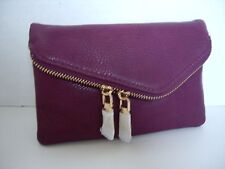 Urban Expressions Clutch Wristlet Wallet Purse with Gold Chain, Raspberry