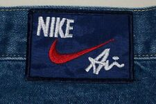 NIKE AIR Carpenter Jeans Red Swoosh Logo Men's Blue Denim USA ~ Tag Size 36