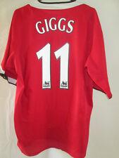 Manchester United 2004-2006 Home Giggs Football Shirt Size Medium 34604