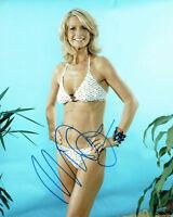 Ulrika JONSSON SIGNED Sexy Bikini 10x8 Photo AFTAL Autograph COA Shooting Stars