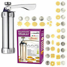25PC BISCUIT MAKER SHAPER CAKE CUTTER DECORATING SET COOKIE PRESS PUMP MACHINE