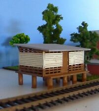 FARM SHED 3 Bay BARN STABLES 139x139x70mm HO 1/87 scale Laser cut Wood kit
