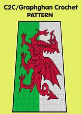 Welsh Flag  Blanket/Afghan - C2C Graphghan Crochet Pattern