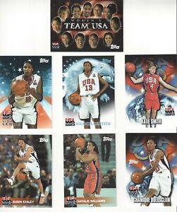 2000 TOPPS TEAM USA BASKETBALL WOMEN'S 47 CARD LOT LESLIE / STALEY WNBA OLYMPIC